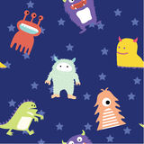 Cute monster seamless pattern Stock Photos