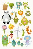 Cute monster set Stock Images