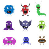 Cute monster set. For animation and comics. Humor comic angry animals Stock Image