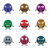 Cute monster set. For animation and comics. Humor comic angry animals Royalty Free Stock Photo