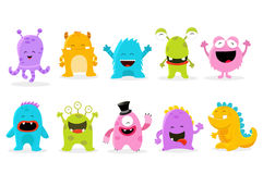 Cute Monster Set. Collection of cute little monsters Royalty Free Stock Image