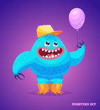 Cute monster set for halloween. Big collection of cute monsters. Halloween character. Vector illustrations. Good for book illustration, magazine prints or Royalty Free Stock Photos