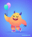 Cute monster set for halloween Royalty Free Stock Photo