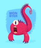 Cute monster set for halloween. Big collection of cute monsters. Halloween character. Vector illustrations. Good for book illustration, magazine prints or Stock Image