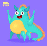 Cute monster set for halloween. Big collection of cute monsters. Halloween character. Vector illustrations. Good for book illustration, magazine prints or Royalty Free Stock Images