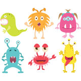Cute Monster set. The vector for Cute Monster set Royalty Free Stock Images