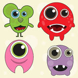 Cute monster set. Vector illustration Stock Photography