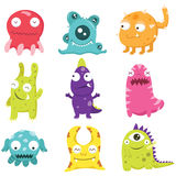 Cute Monster  Set. A Vector Illustration of Cute Monster Set Stock Image