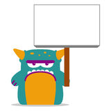 Cute Monster With Space For Text Stock Photo