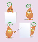 Cute monster- sprout, from different angles Royalty Free Stock Image