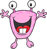 Cute Monster Vector. Super Cute Happy Monster Vector Illustration Stock Images