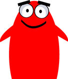Cute monster - vector clipart. Illustration of cute little red monster Stock Photos