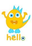 Cute monster vector, little monster cartoon Stock Photo