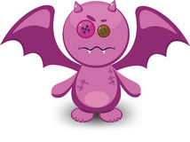 Cute monster with wings. Isolated on white Stock Images