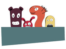 Cute monsters Stock Images
