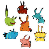 Cute monsters Stock Photo
