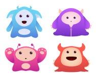 Cute Monsters. Set of Cute cartoon Monsters Stock Photos