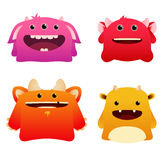 Cute monsters. Set of cartoon cute monsters Stock Photography
