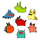 Cute monsters #3 Royalty Free Stock Photography