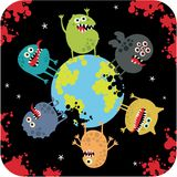 Cute monsters of apocalypse. Stock Images