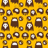 Cute monsters background. Seamless cute monsters background illustration Royalty Free Stock Photos