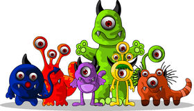 Cute monsters cartoon Royalty Free Stock Photography