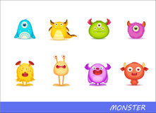 Cute monsters. Character mascot Stock Images