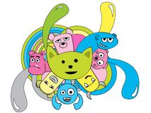 Cute  monsters characters Royalty Free Stock Photography