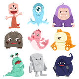 Cute monsters characters Stock Photos