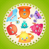 Cute monsters design Royalty Free Stock Photography