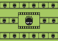 Cute monsters and film strip seamless pattern Royalty Free Stock Photography