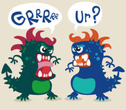 Cute monsters illustration. Cute fun monsters illustration vector Royalty Free Stock Photography