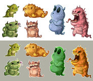 Cute monsters isolated Royalty Free Stock Photography