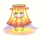 Cute monsters, lampshade from lamp. Royalty Free Stock Photo