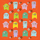 Cute monsters pattern Royalty Free Stock Photos