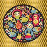 Cute monsters pattern. vector illustration
