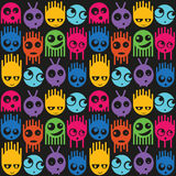 Cute monsters seamless pattern Royalty Free Stock Photo