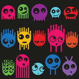Cute monsters seamless pattern, vector Stock Photo