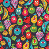 Cute monsters seamless texture. royalty free illustration