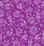 Cute monsters seamless. Vector illustration. Royalty Free Stock Photography
