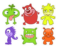 Cute monsters set  two Royalty Free Stock Photos
