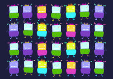 Cute monsters  set. Vector illustration. Stock Photography