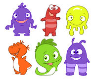Cute monsters set Stock Photos