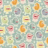 Cute  monsters  texture with stars. Stock Image
