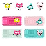 Cute monsters vector creations. royalty free illustration
