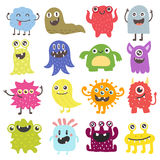 Cute monsters vector set. Stock Photo