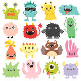 Cute monsters vector set. Royalty Free Stock Photo