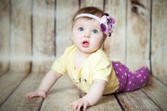Cute 6 months girl stock photography