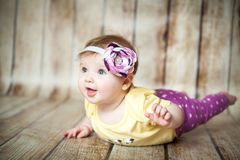 Cute 6 months girl stock photos