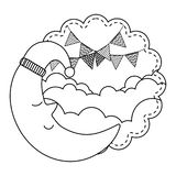 Cute moon design vector illustration stock illustration